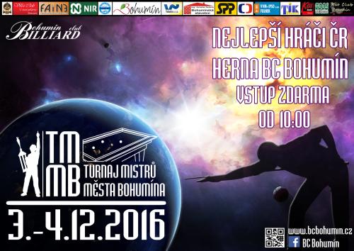 Turnaj mistrů města Bohumína 2016